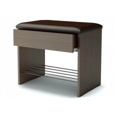 Банкетка с ящиком сидение коричневый кож.зам