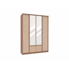 "Шкаф 4-х створчатый с 2 ящиками ""Карина"" с зеркалом"