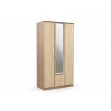 "Шкаф 3-х створчатый с 2 ящиками ""Карина"" с зеркалом"