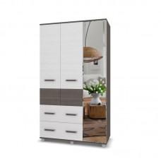 """Шкаф 3х створчатый с ящиками и зеркалом """"Виора 33"""""""