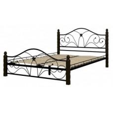 """Кровать """"Селена 1"""" черный/шоколад"""