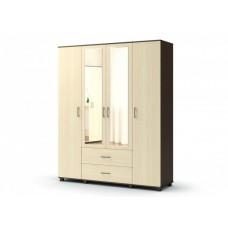 """Шкаф """"МАКСИМ"""" 4-створчатый с ящиками с зеркалом"""