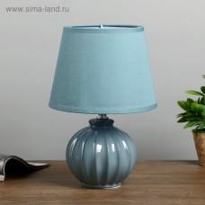 """Лампа настольная """"Сандра"""" синий 20*20*29,5 см"""