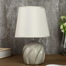 "лампа настольная керамика ""Кадди"" серый 18*18*27 см"